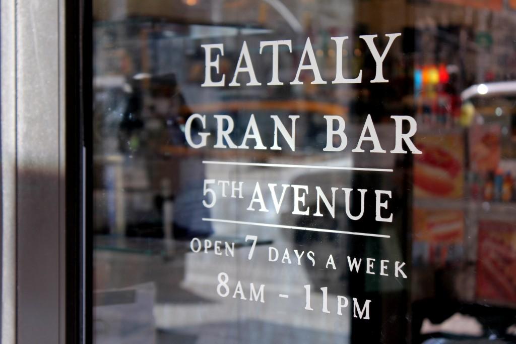 Parhaat ruokapaikat New Yorkissa - Eataly