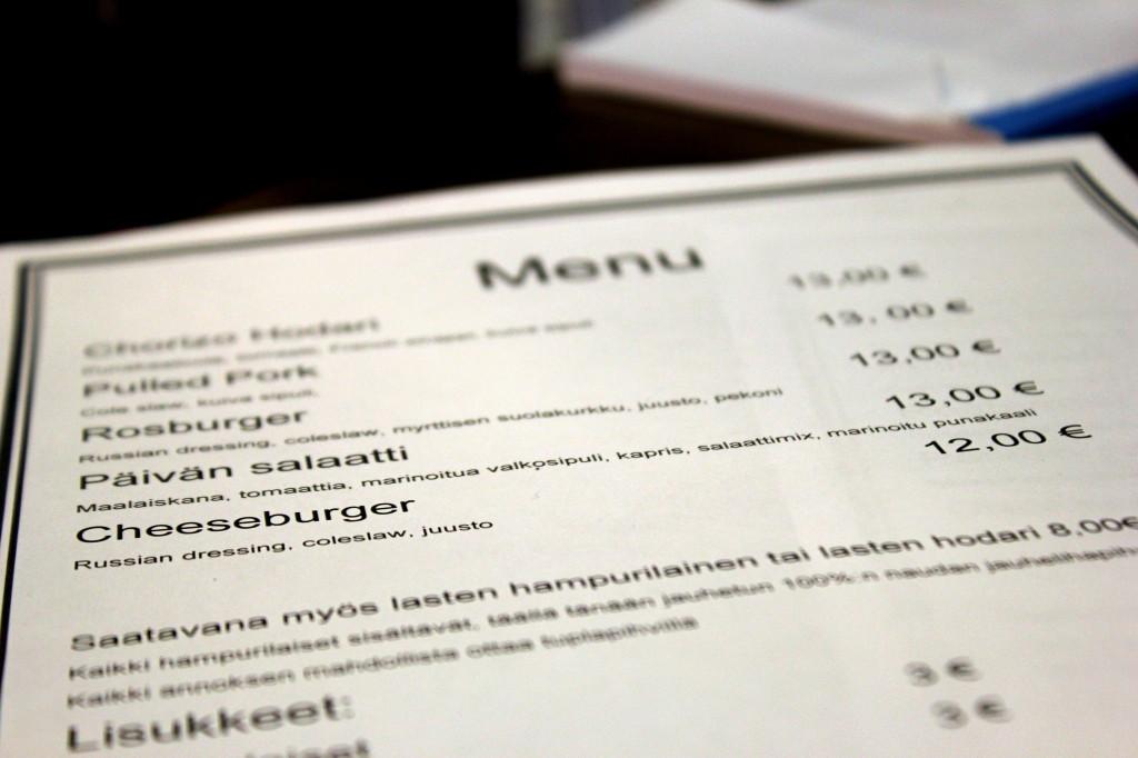 Lihakauppa Roslund - menu