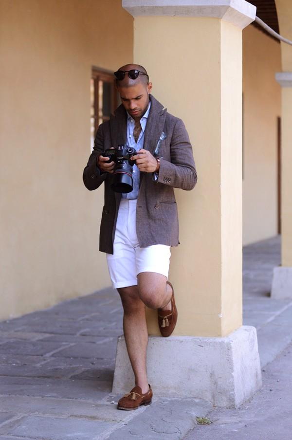 miehen kesätyyli - shortsit