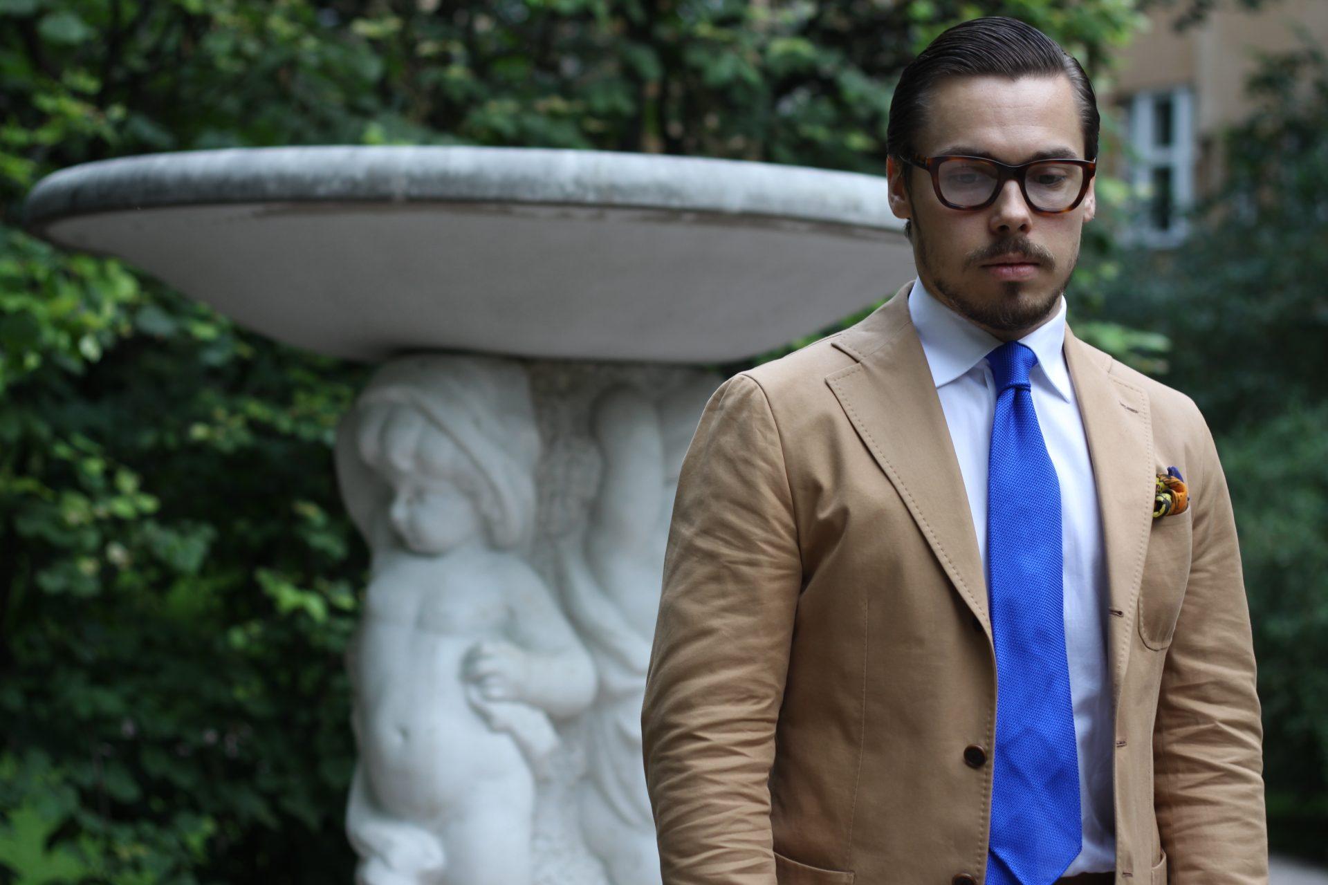 Puuvillapuku - toimii myös solmion kanssa