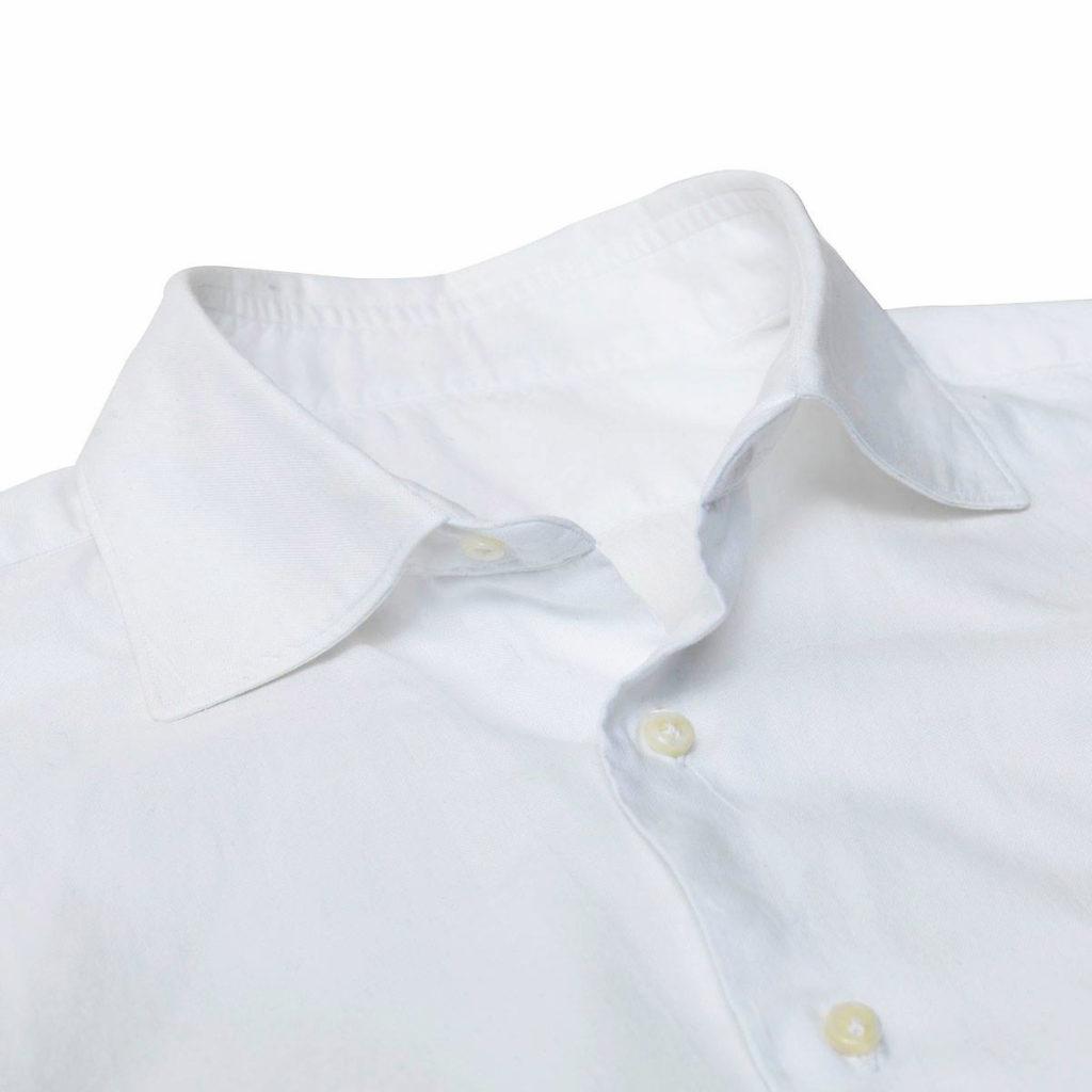 Puku ylioppilasjuhlaan - valkoinen kauluspaita pehmeällä kauluksella