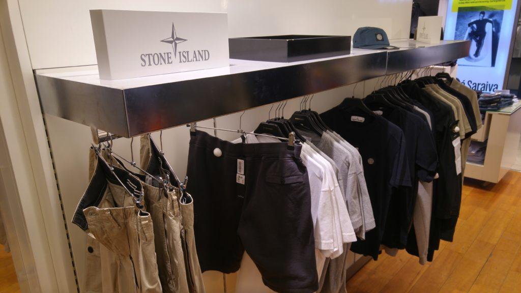 Stone Islandin osasto Stockmannilla.